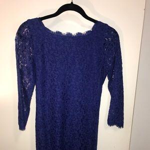 Diane Von Furstenberg royal blue lace dress